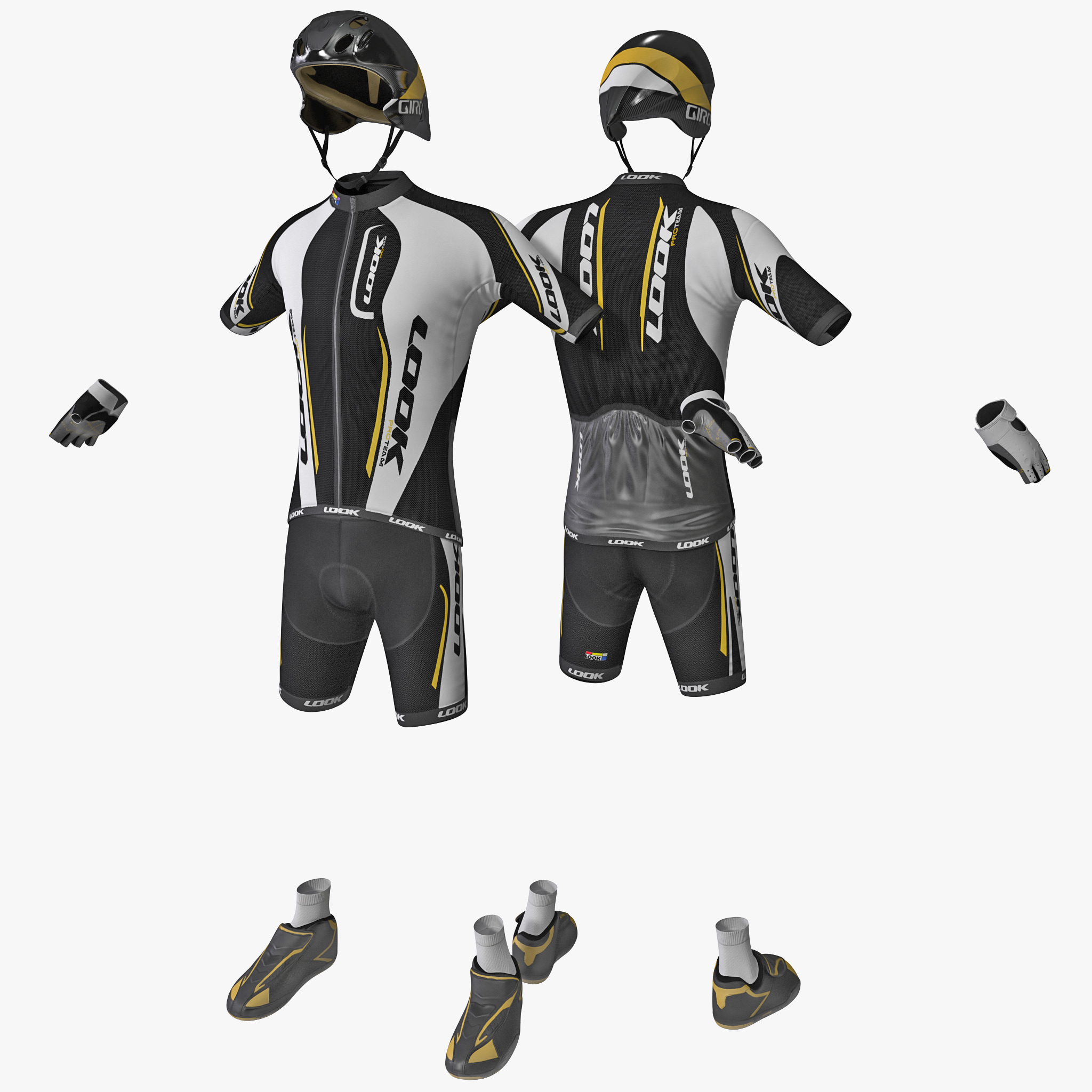 cyclist clothes 3d model