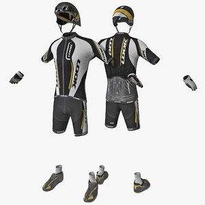 cyclist clothes 3d model