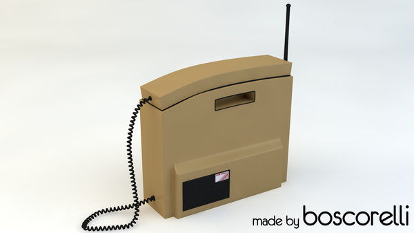 3d retro brick phone model