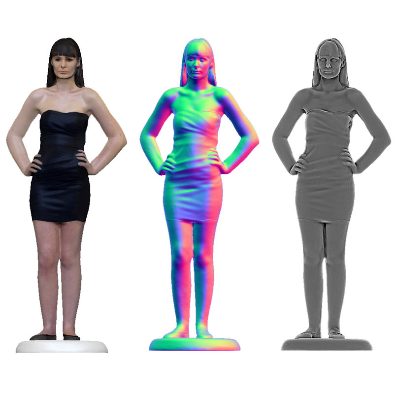 3d scan female woman model