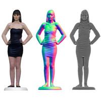 3d scan female woman model