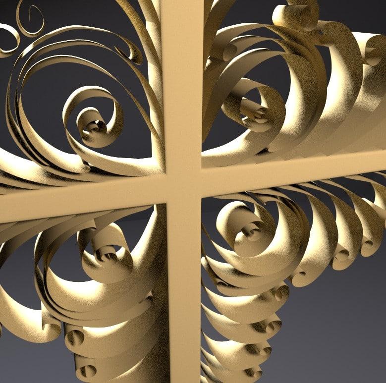 3d decorative wooden cross