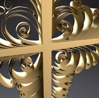3d decorative wooden cross