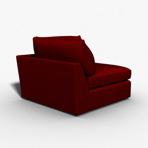 select sofas chairs sectional 3d model