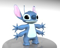 cartoon character stitch 626 3d 3ds