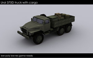 3dsmax ural 375d military transport