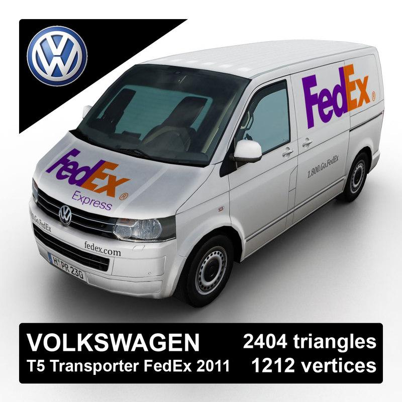 2011 volkswagen t5 transporter 3d model