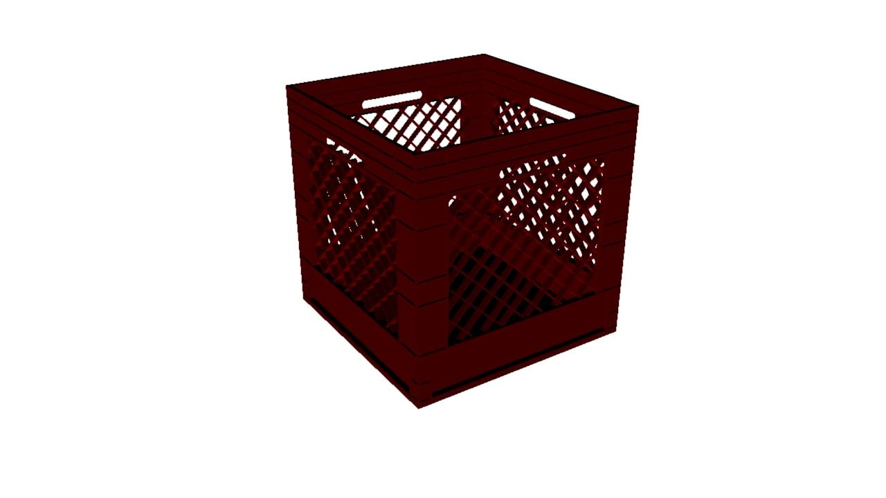 milk crate 3d ma