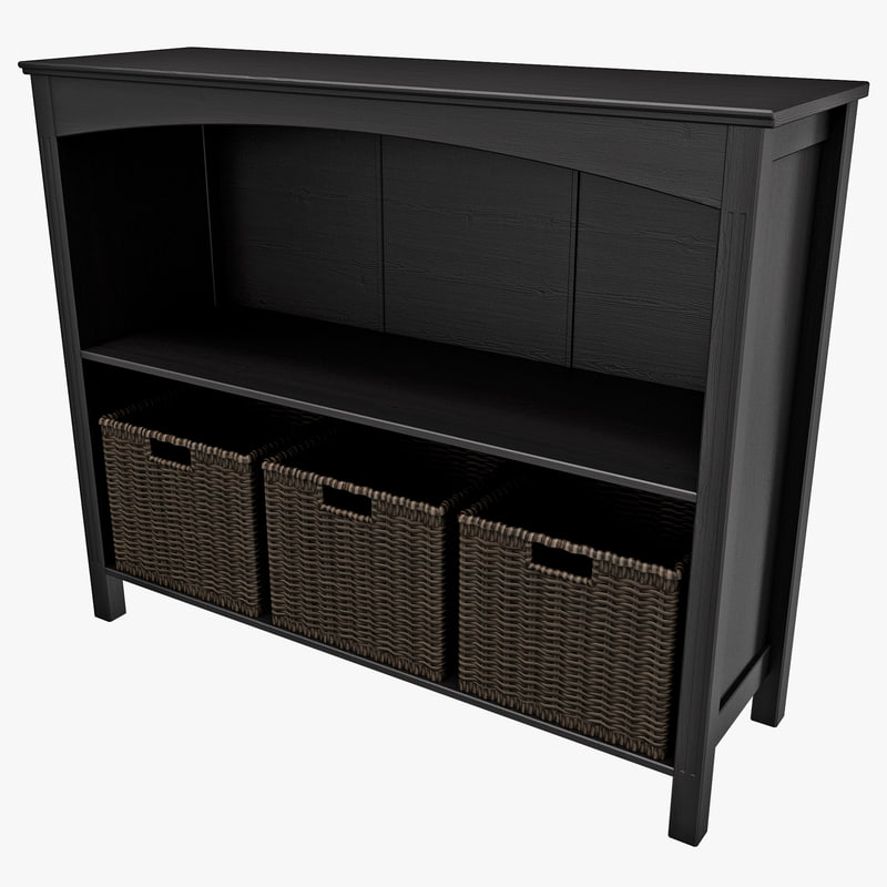 3d model wide 2 section storage