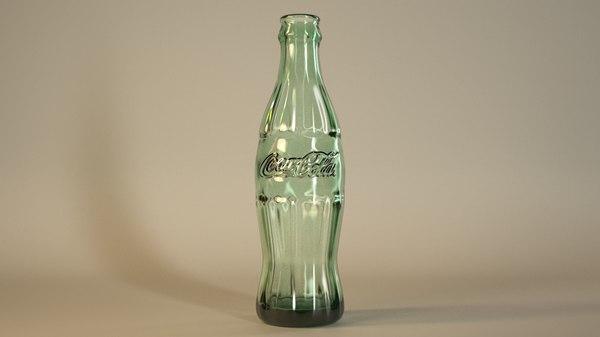 coke bottle 3d obj