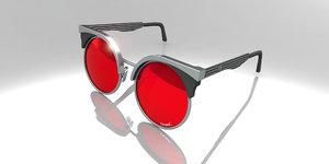 retro sunglasses 3ds