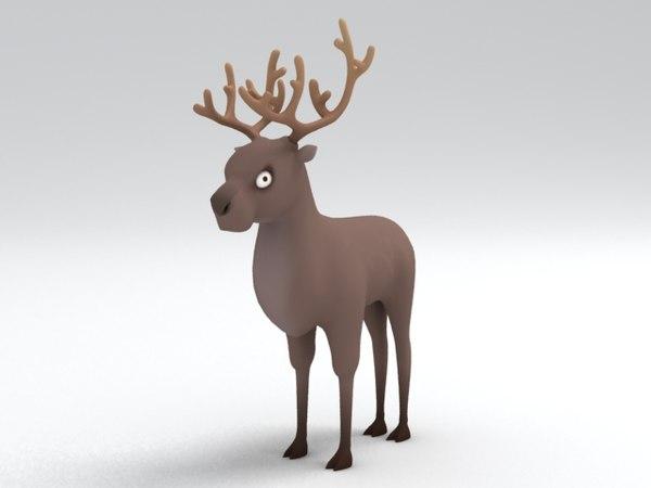 3d model deer character
