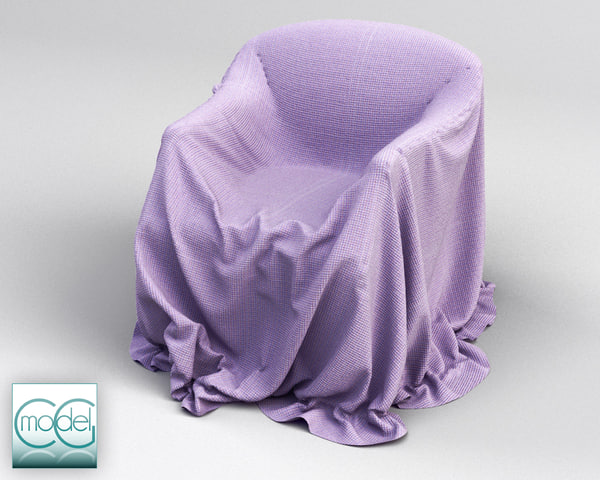 c4d couch covered cloth