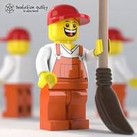 maya lego garbage guy figure