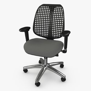 3d model reverb office armchair