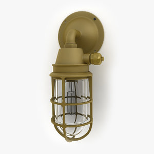 retro industrial lamp 10 3d model