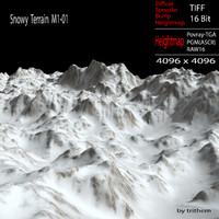 snowy terrain m1-01 3d model