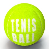 tennis ball furry fur 3d max