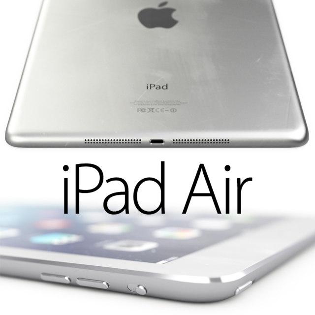 3d model apple ipad air details