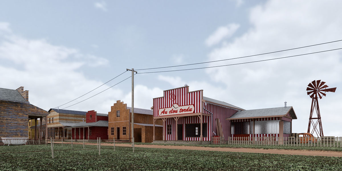 3dsmax village western