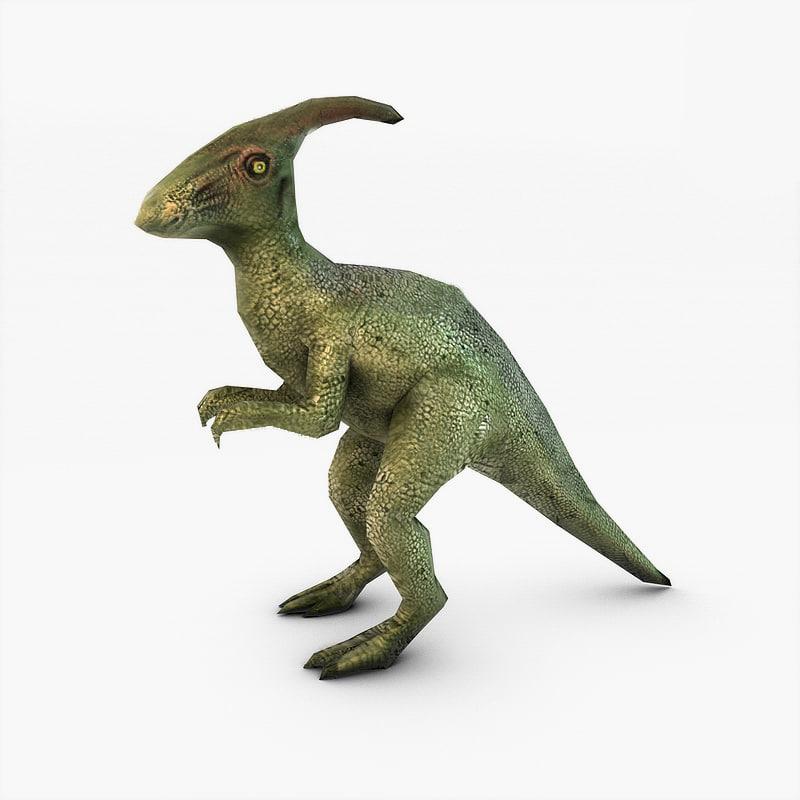 3d dinosaur games model