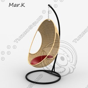 3d model of hanging chair