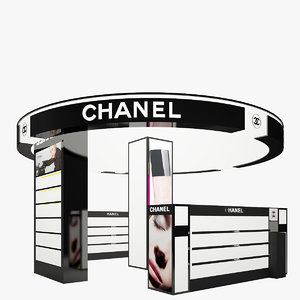 chanel cosmetics stand - 3d model