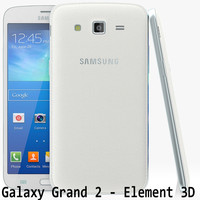 samsung galaxy grand 2 3d model