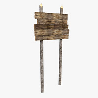 Outdoor Wooden Standing wood old Sign