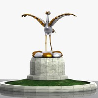 white stork monument 3ds