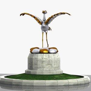 white stork monument 3ds