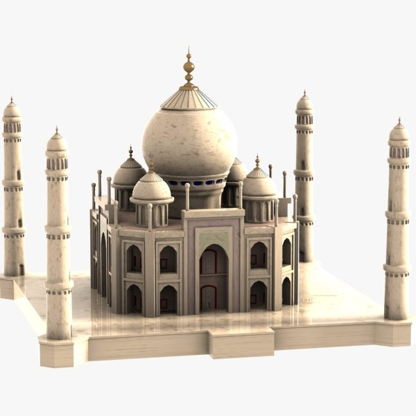 cartoon taj mahal 3d 3ds