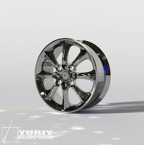 free 3ds model wheel rim