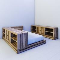 3d model children bed