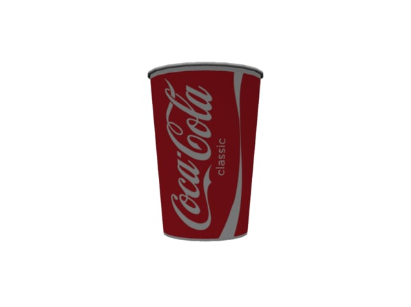 free obj model coca-cola cup