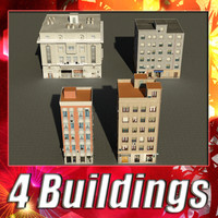 3ds max building 41-44 collections