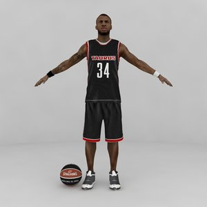 max custom basketball player