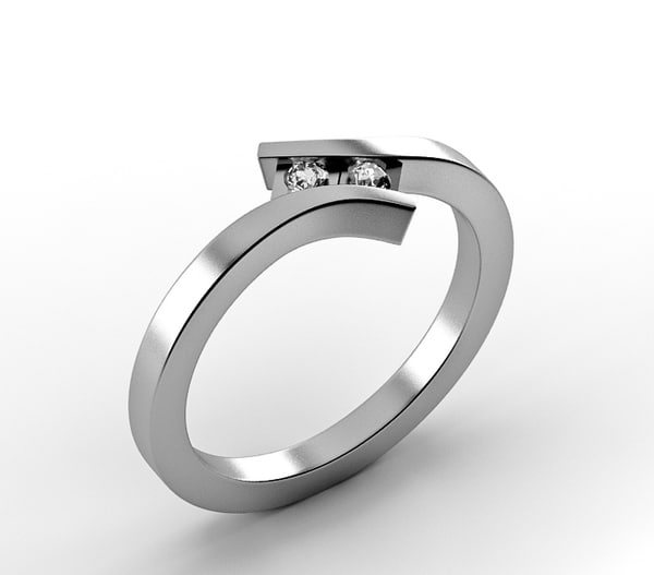 silver ring 3d model