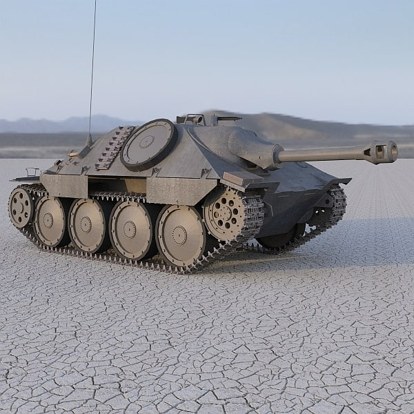 3d model hetzer german tank