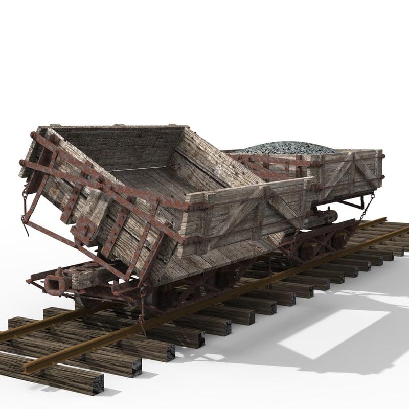 railroad car obj