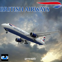 3d model 767 british airways