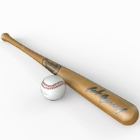 3d baseball bat ball model