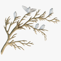 bijan porcelain birds brass 3ds