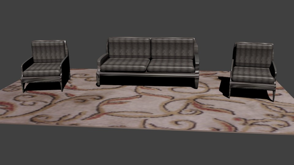 Fabulous Couch And Two Chairs On Carpet Short Links Chair Design For Home Short Linksinfo
