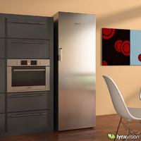 3dsmax upright fridge bosch