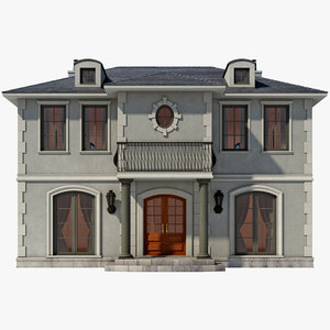 3d model faux chateau house