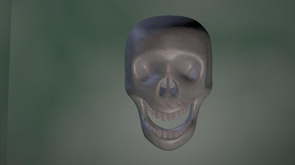 3d model simple skull