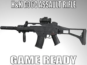 3d g36c assault rifle model