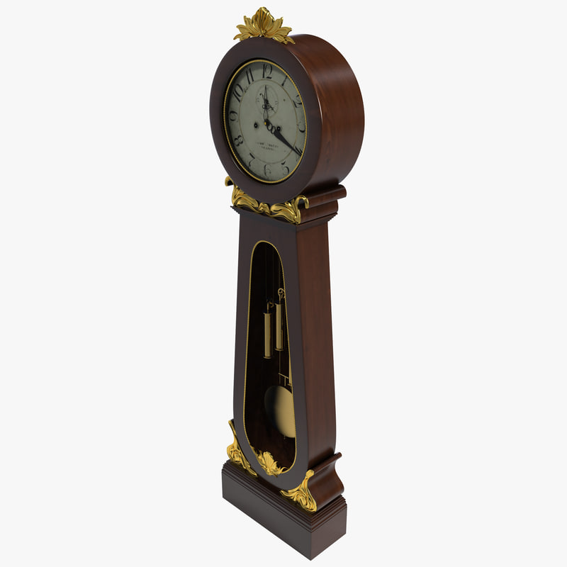 3ds grandfather clock