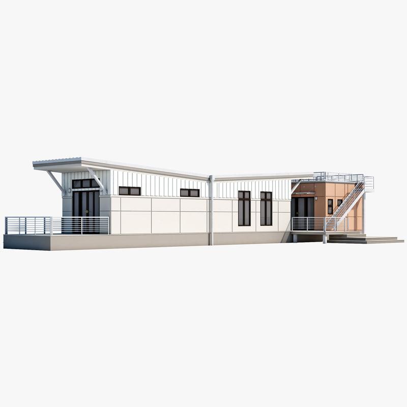 i-house 3d c4d